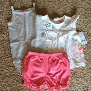 (3 pcs) 9 months Baby Girl Outfit